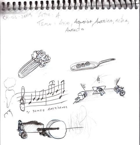Mi memoria en dibujos 21 (A, Apio, Albondiga, America, Azotea, Asfalto)