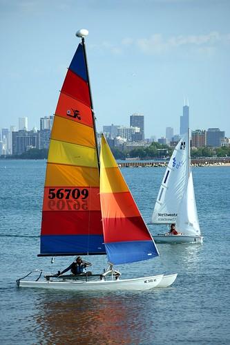 chicago skyline sailboats northwestern