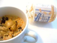 carrot cake oat bran love. (buttermilk*blue) Tags: breakfast ginger yum cinnamon raisins carrot carrotcake soymilk cloves oatbran peanutbutterandco whitechocolatewonderfulpeanutbutter carrotcakeoats
