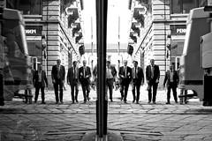 (12) +54321|12345+ (Donato Buccella / sibemolle) Tags: street blackandwhite bw italy milan reflection mirror candid milano streetphotography tram moscova canon400d sibemolle reservoirdogsthankstorocoeno