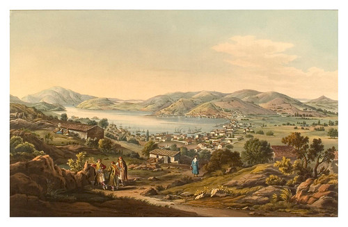 017- Puerto de Bathy y capital de Ithaca--Views in Grece 1821
