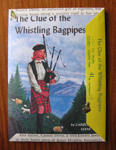 Nancy Drew fold and mail: bagpipes!