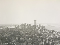 black and white photo of new york city
