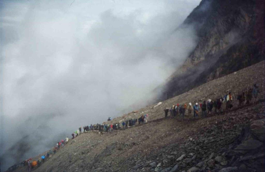 Tough climb to high altitude ...