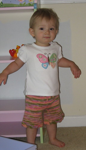 "Lily in her TK ""Cherry Blossom"" shorties"