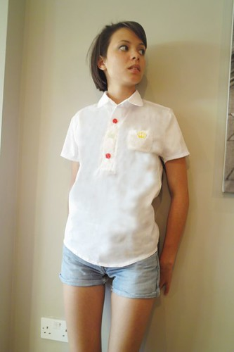 Alba - QOS simple white shirts