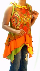 Rust, Orange & Green Tunic (brendaabdullah) Tags: fashion diy clothing women colorful designer recycled sweaters crochet knit funky indie tops sustainable tunic pieced brendaabdullah ecoconsious