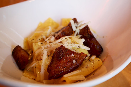 Pasta alla Carbonara with Pig Cheeks