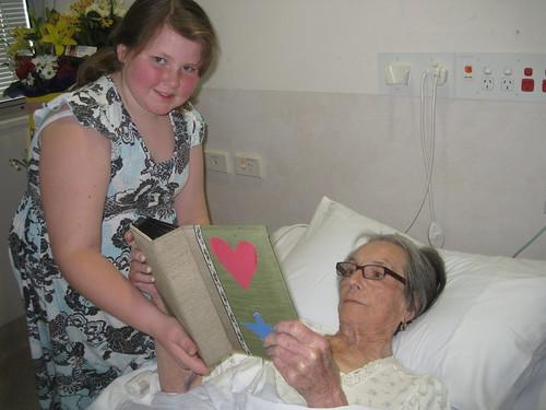 Visiting Granny in hospital