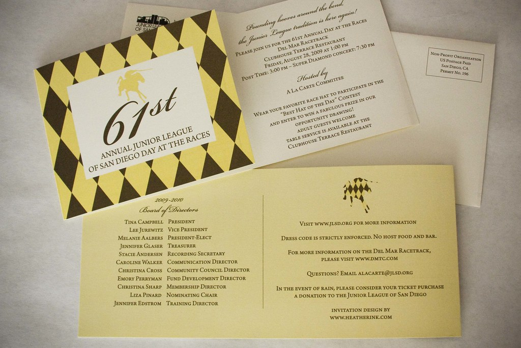 Junior League: Day at the Races printed invitations