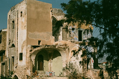 Old Yaffo (zar_kor) Tags: old city urban building film analog 35mm israel reflex ruins antique tel aviv jaffa east arab villa middle ruines yaffo