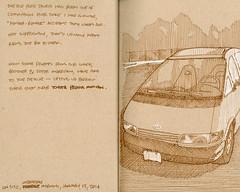 The Silver Bullet (Roger Merrill) Tags: illustration ink sketch drawing toyota minivan rendering penandink previa kraftpaper