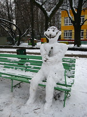 IMG_0501 (ewewlo) Tags: snowman europe poland warsaw canondigitalixus870is