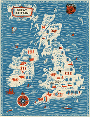 great britain (maraid) Tags: uk greatbritain london illustration book map 1950s childrens 1956 stanleysmith thegilberthardingquestionbook whmason
