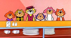 Ode to Hanna Barbera Cats:  Top Cat and Gang (slappy427) Tags: jonnyquest spaceghost scoobydoo 1970s flintstones jetsons muttley yogibear bettyrubble huckleberryhound fredflintstone barneyrubble hannabarbera johnnyquest topcat saturdaymorningcartoons wilmaflintstone 1960s quickdrawmcgraw laffalympics pebblesandbammbamm dinoflintstone