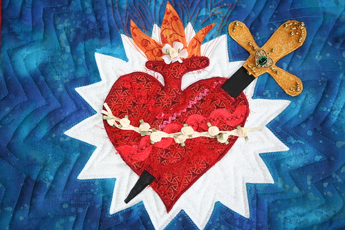 Immaculate heart quilt closer