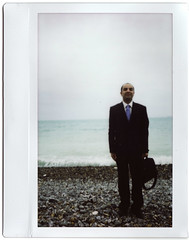 MGMT (Monochrome Chicken) Tags: beach kino fuji wide 200 normandie plage pourville instax courtmetrage