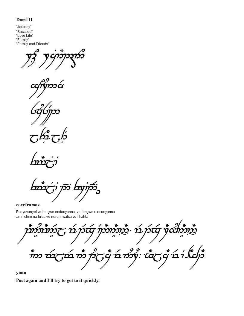 Elvish+tattoos+translation