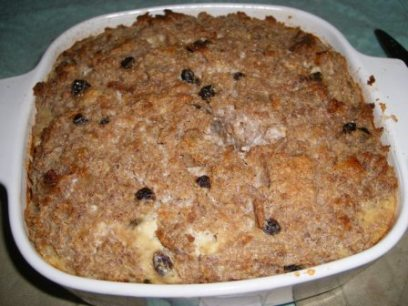 Bread Pudding using BBB 5 Grain Walnut Bread - Joy of Cooking