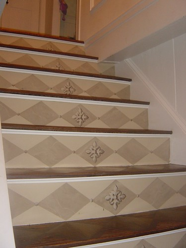 How to paint a stairway