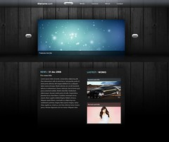 Web mockup - client work (DDrDark) Tags: wood black bar silver design site box buttons web style next page works portfolio feature nav prev navbar