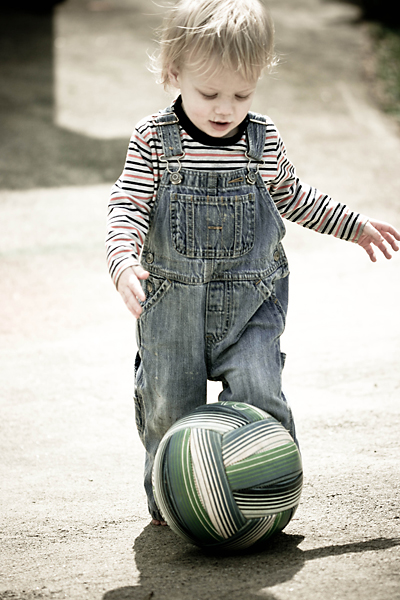 he loves to kick the ball