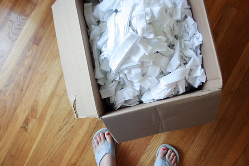 a full box of t-shirt strips