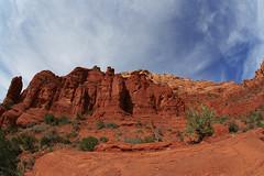 Sedona (andrew stowell) Tags: blue arizona sky clouds canon sedona fisheye canyons