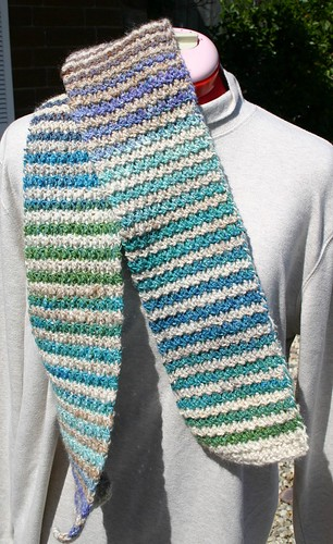 Ravelry Crocheted Noro Striped Scarf Pattern By Elisa Purnell