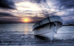 Waiting for the tuna (momentaryawe.com) Tags: ocean sunset sea sun water boat fishing dusk oman hdr d300 masirahisland momentaryawe