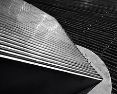 Down left (iamnotandrewlee) Tags: wood bw abstract art lines metal night angles melbourne southbank blackwhitephotos