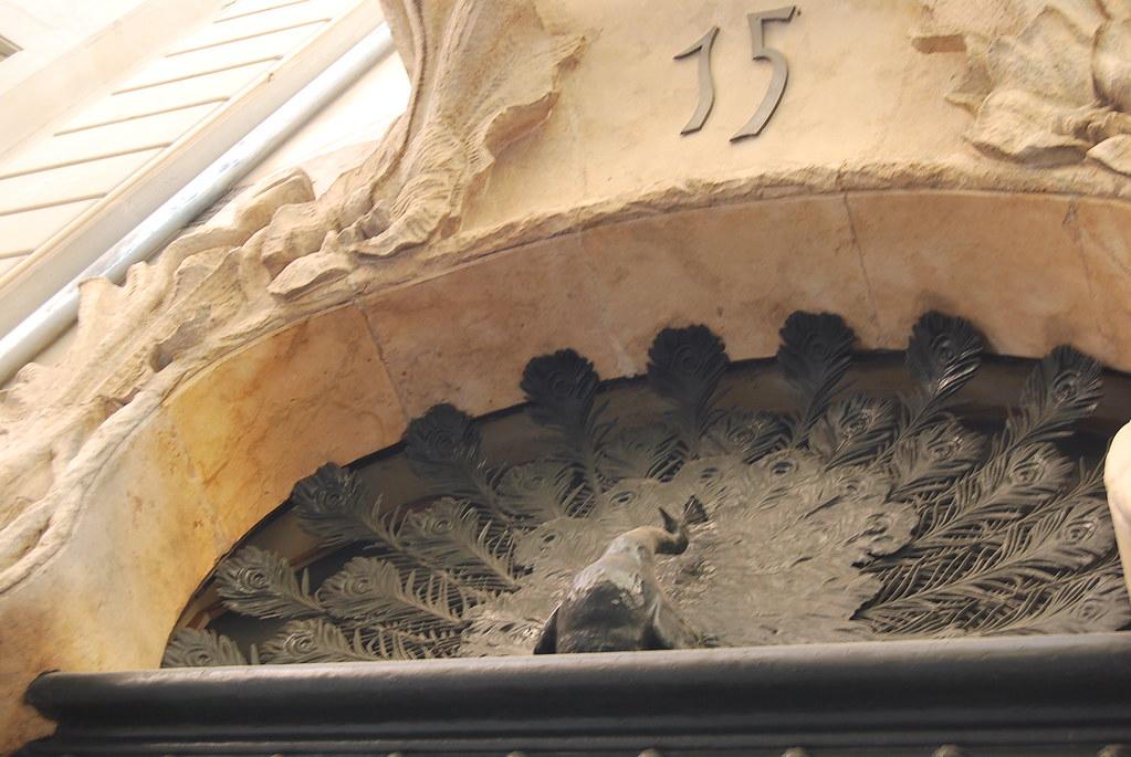 Dintel de la Casa del Pavo