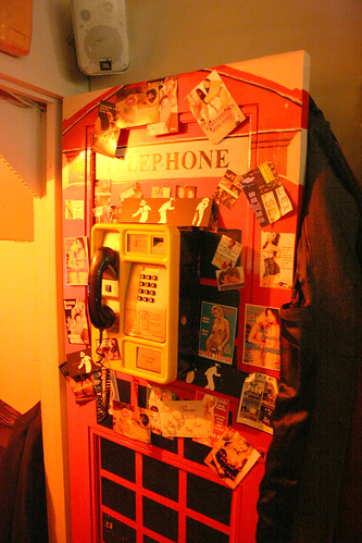 Sordid phone booth