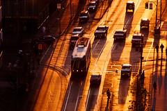 College Street, Sunset (josullivan.59) Tags: city sunset toronto canada kodachrome streetcar kodachrometoronto