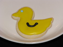 Duck Sugar Cookie (ABarrett) Tags: flowers baby bunny cookies easter spring yummy cookie time sugar ladybug icing decorate bake springtime sugarcookie royalicing decoratedcookies icedcookies eastercookie