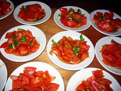 Tomatoes on Door (egotoagrimi) Tags: food salad tomatoes ikaria panigiri