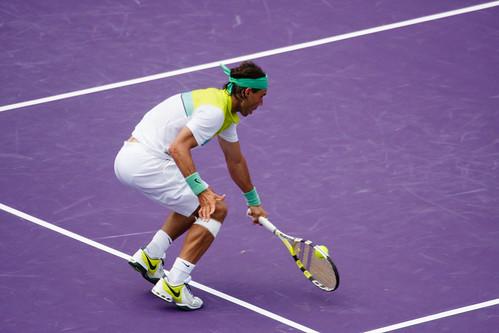 Rafael Nadal volley