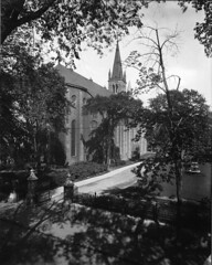 St. Patrick's Church, Dorchester Street, Montreal, QC, 1915 (Muse McCord Museum) Tags: irish canada tower church fountain catholic cathedral quebec montreal spire 1915 qc ariana stpatrickschurch dorchesterstreet mccordmuseum irlandais musemccord