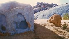 blue stones (paulmelllor) Tags: blue desert stones 1996 morocco minox tafraoute