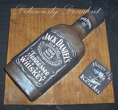 jack daniels bottle (Deliciously Decadent (Taya)) Tags: cake jack bottle alcohol daniels coaster