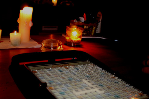 Power out = travel scrabble!