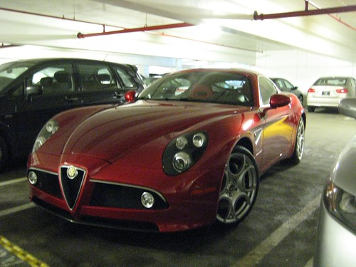 Spotted this beautiful Alfa Romeo 8C Competizione in a parking garage in Old