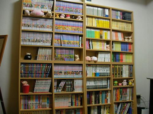 1cmピッチ・薄型・文庫&コミック用の本棚