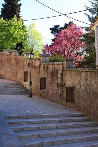 Escaleras en la Calle Calderón de la Barca