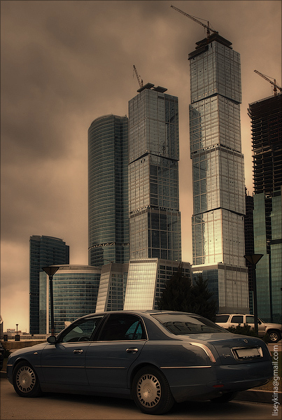 lancia and moscow-city