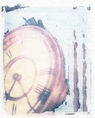 Polaroid Transfer clock 01 cloth