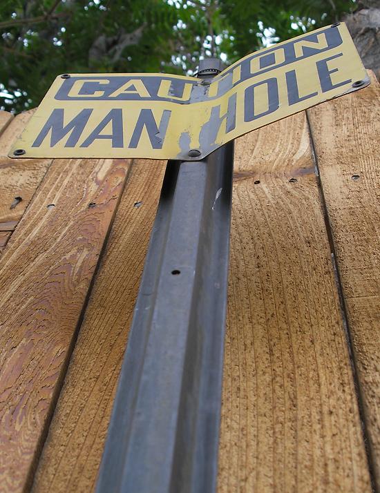 Caution Manhole 3