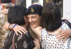 TA medic (armedforcesdayuk) Tags: uk family home smiling wales hugging families cardiff homecoming return welcome medic ta cuddling reserves reservist embracing medics territorialarmy