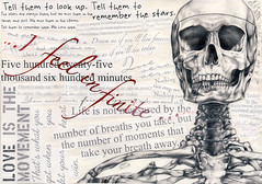 Infamy and Atrophy (Coffee Shop Reject) Tags: life collage pencil dark skeleton death quotes bones theperksofbeingawallflower