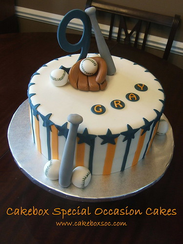 Baseball Cake for Gray